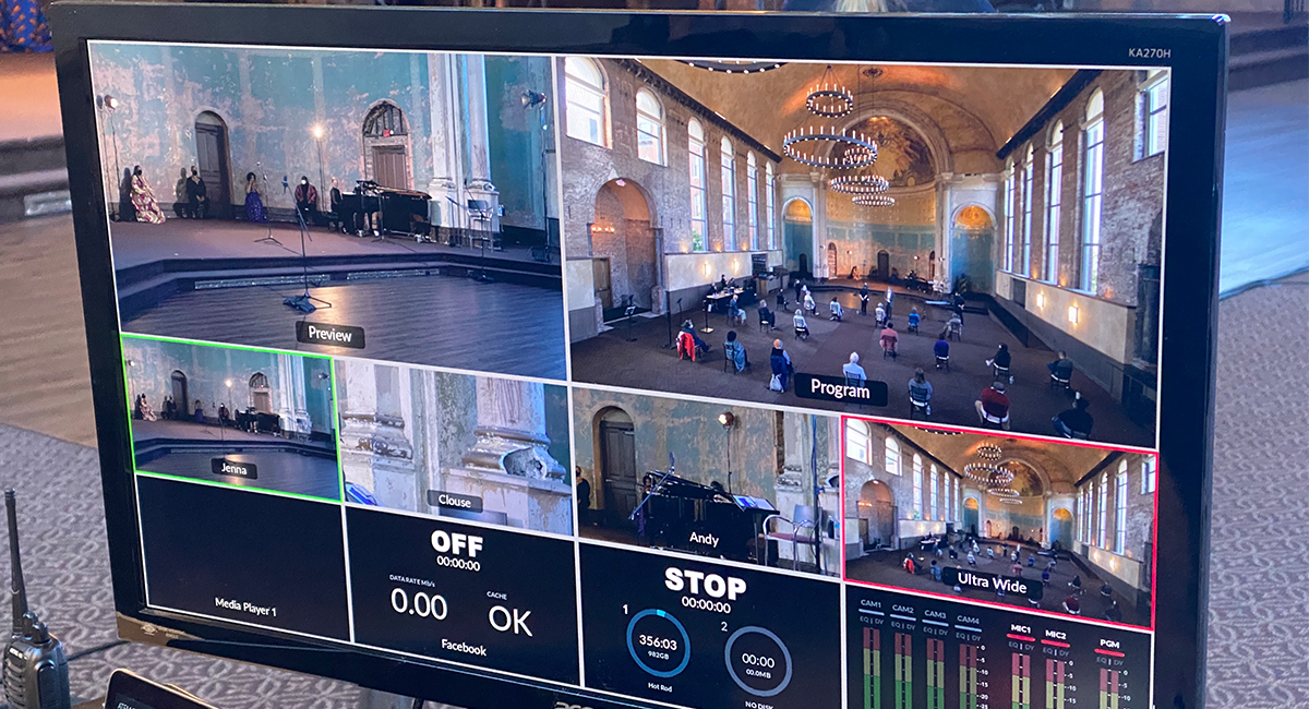 Live event switcher set up for the Opera