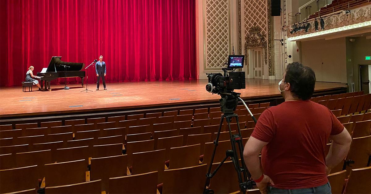 On location at Cincinnati Music Hall